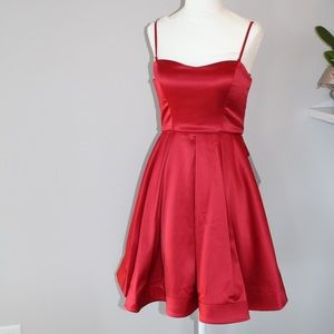 Nordstrom red formal dress NWT